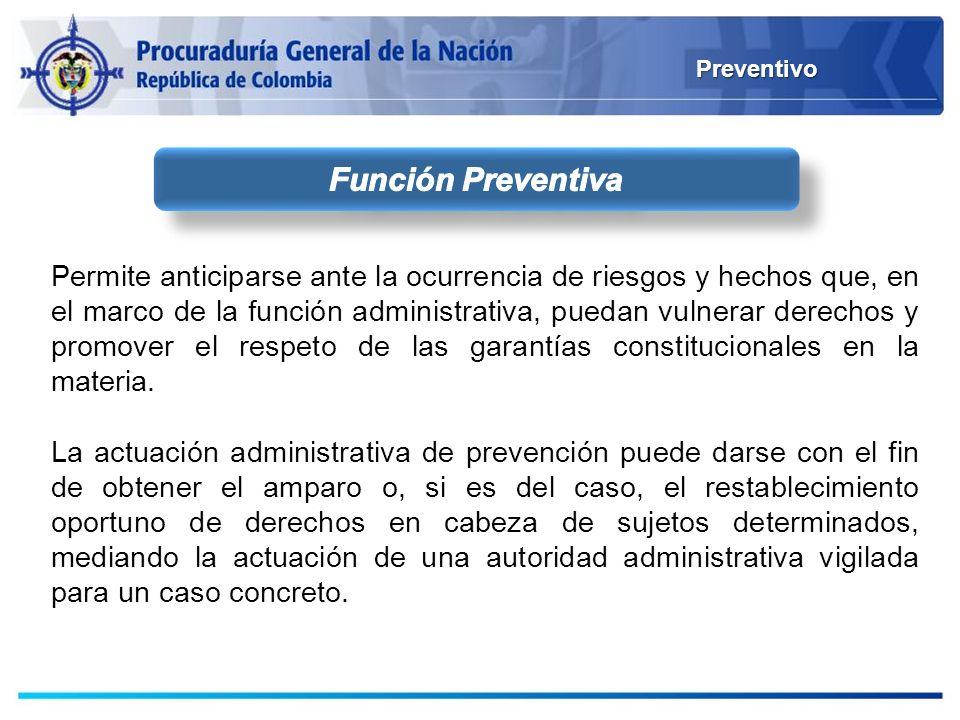 Preventivo Función Preventiva.