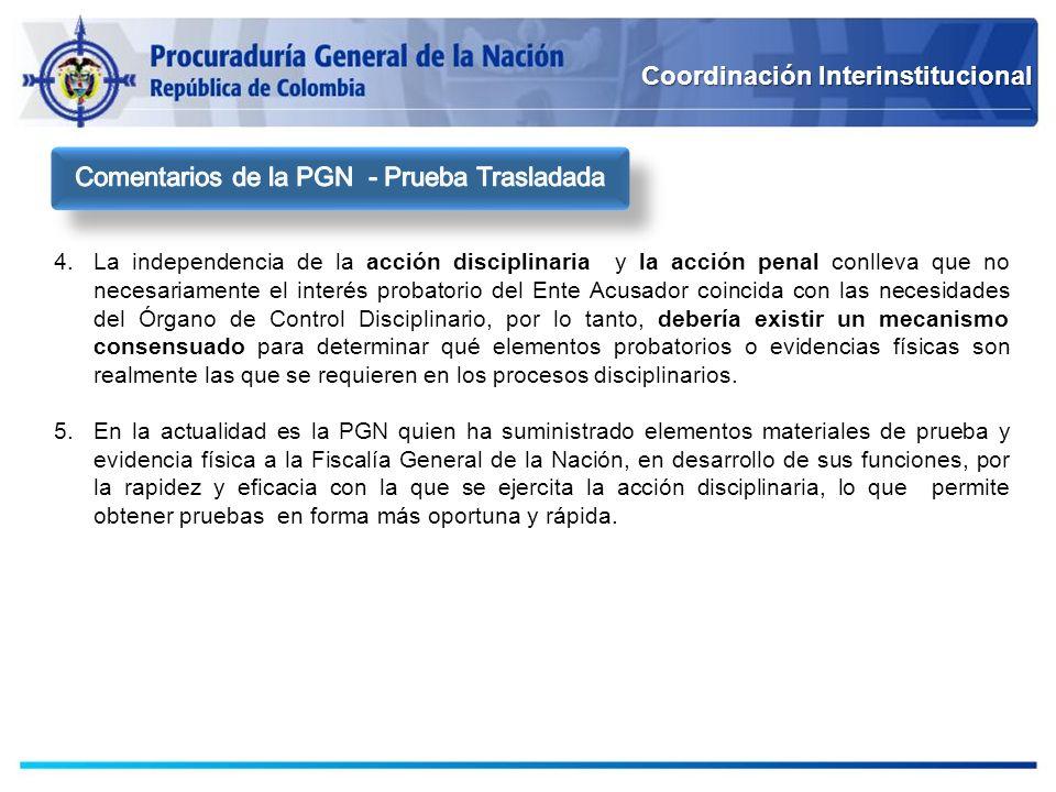Comentarios de la PGN - Prueba Trasladada
