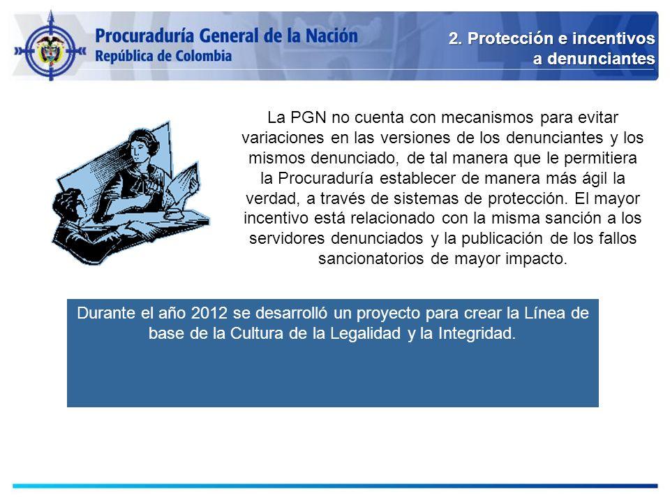 2. Protección e incentivos a denunciantes