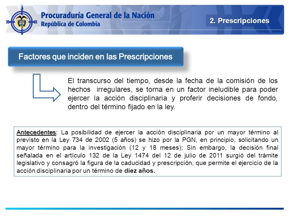 Factores que inciden en las Prescripciones