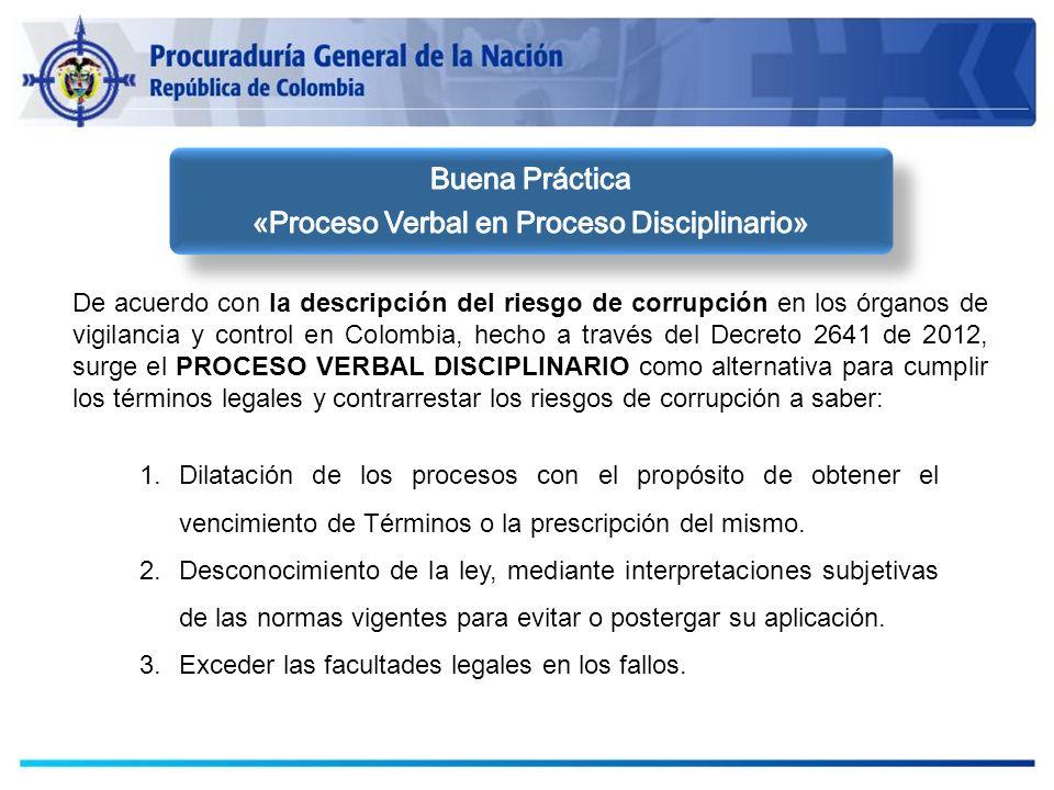 «Proceso Verbal en Proceso Disciplinario»