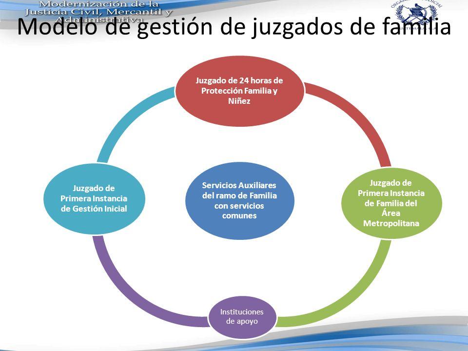Modelo de gestión de juzgados de familia