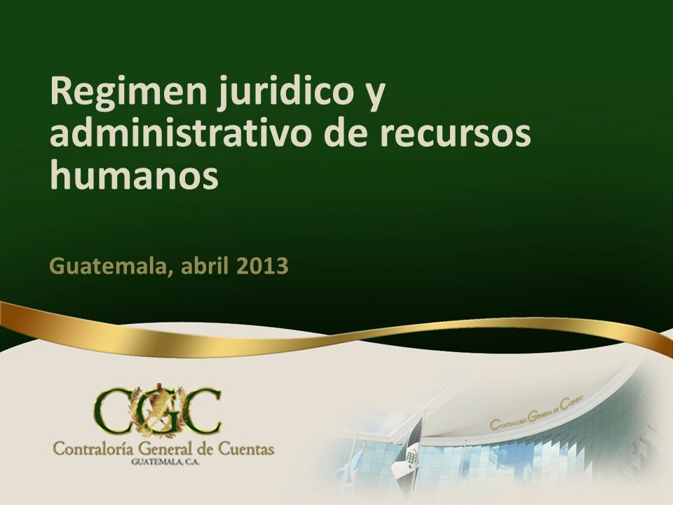 Regimen juridico y administrativo de recursos humanos