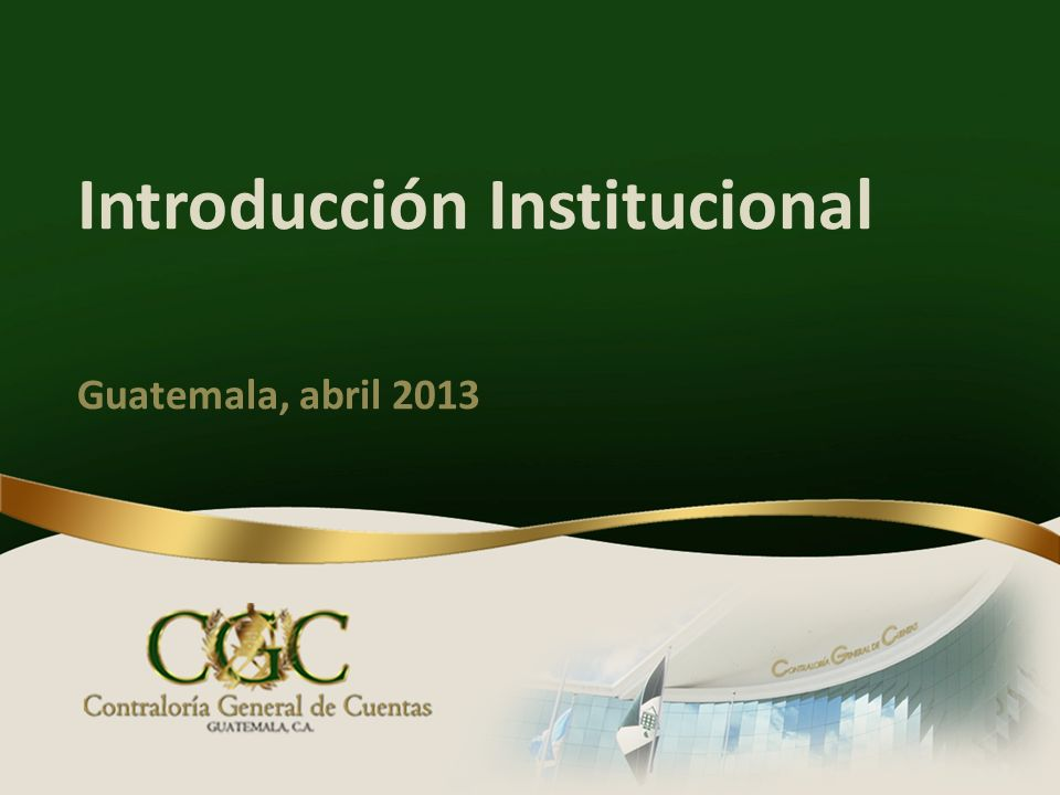 Introducción Institucional