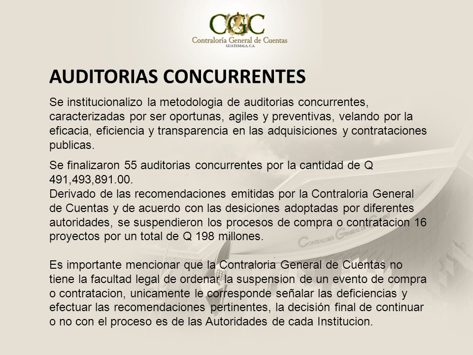 AUDITORIAS CONCURRENTES