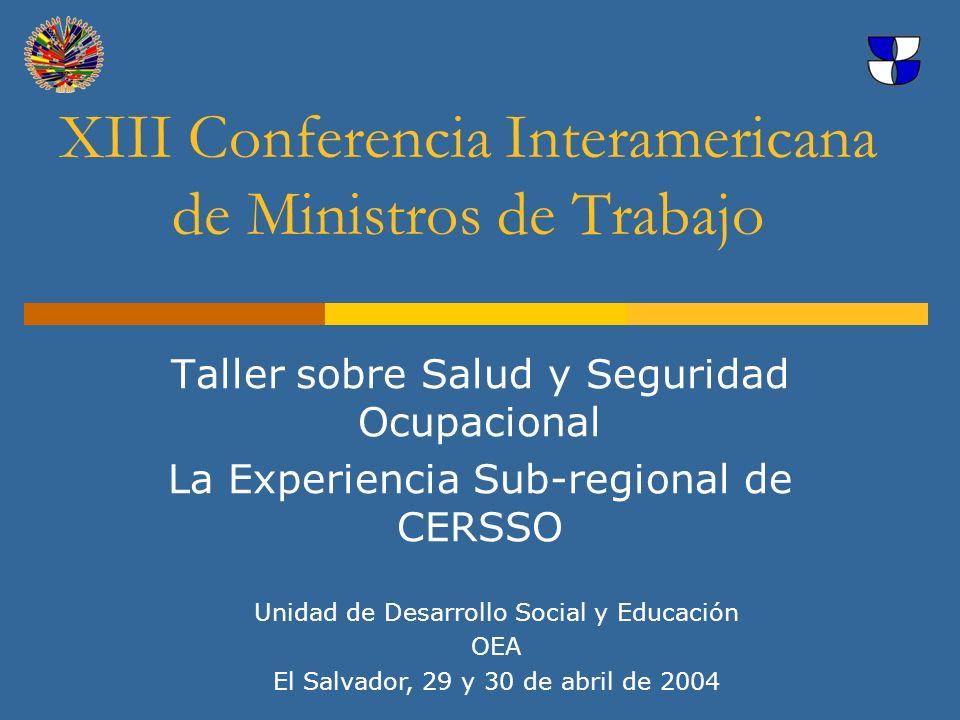 XIII Conferencia Interamericana de Ministros de Trabajo