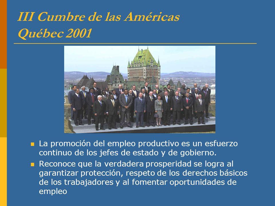 III Cumbre de las Américas Québec 2001