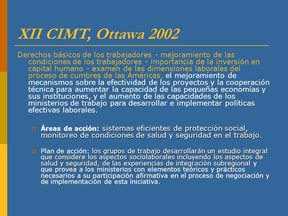 XII CIMT, Ottawa 2002