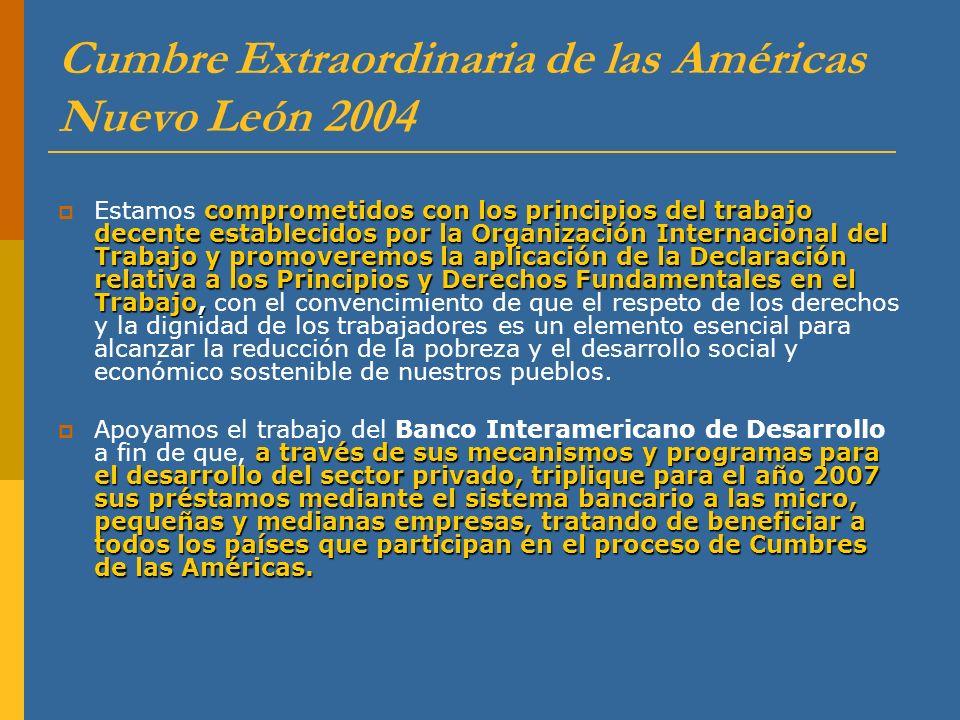 Cumbre Extraordinaria de las Américas Nuevo León 2004