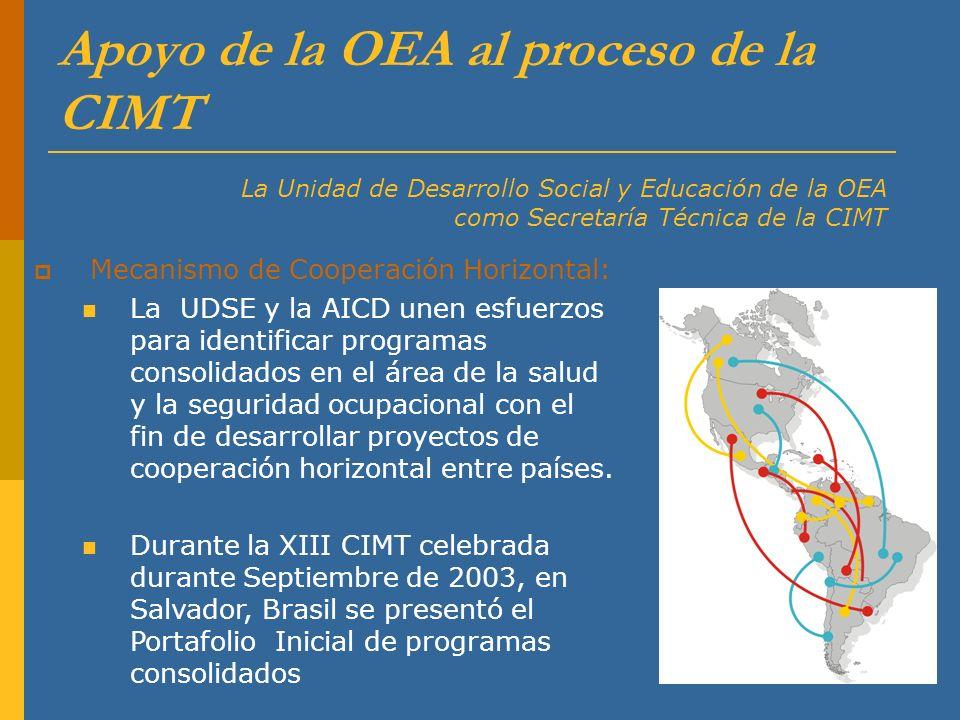 Apoyo de la OEA al proceso de la CIMT
