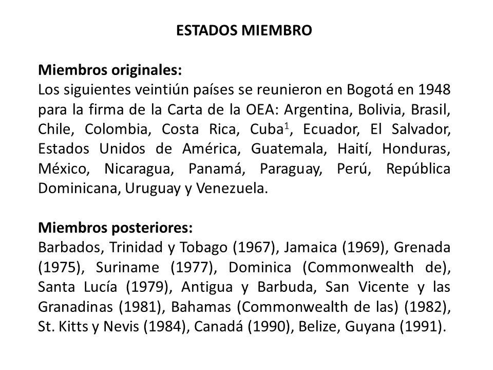 ESTADOS MIEMBROMiembros originales:
