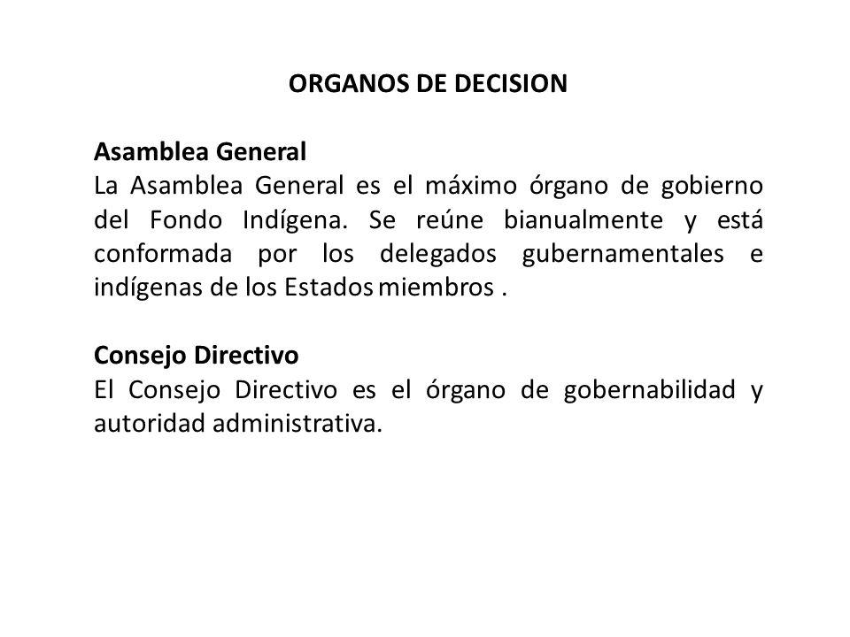 ORGANOS DE DECISIONAsamblea General.