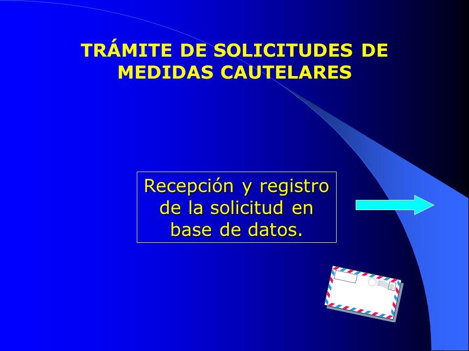 TRÁMITE DE SOLICITUDES DE MEDIDAS CAUTELARES