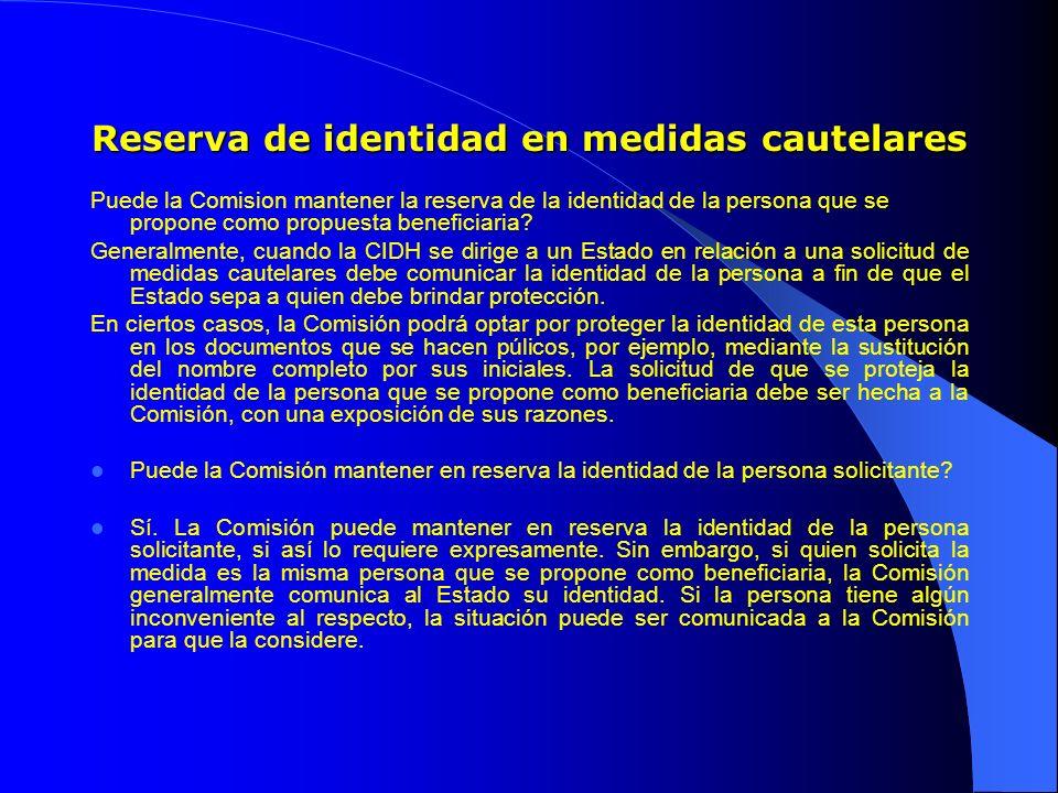 Reserva de identidad en medidas cautelares