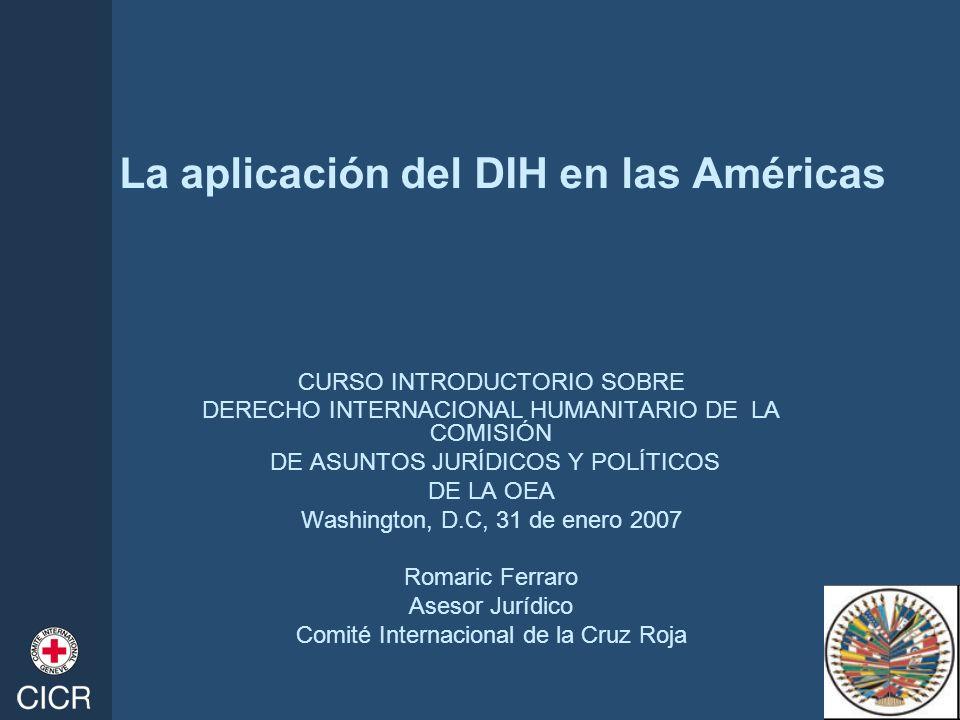 La aplicación del DIH en las Américas