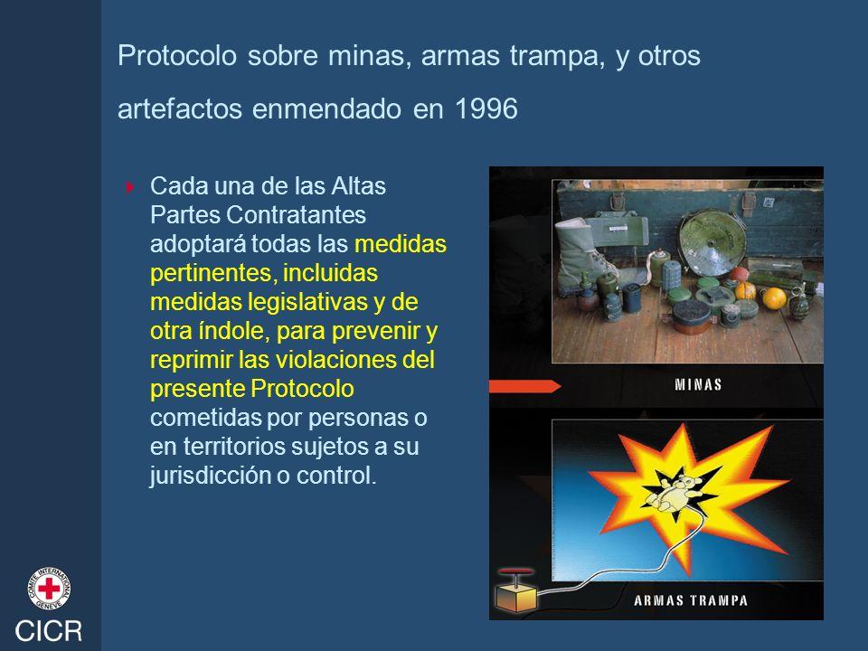Protocolo sobre minas, armas trampa, y otros artefactos enmendado en 1996
