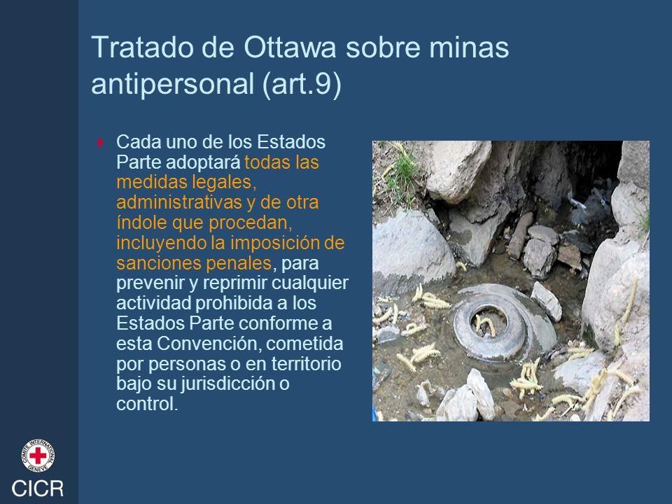 Tratado de Ottawa sobre minas antipersonal (art.9)