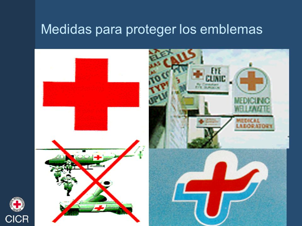 Medidas para proteger los emblemas
