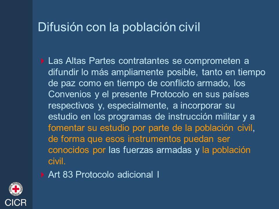 Difusión con la población civil