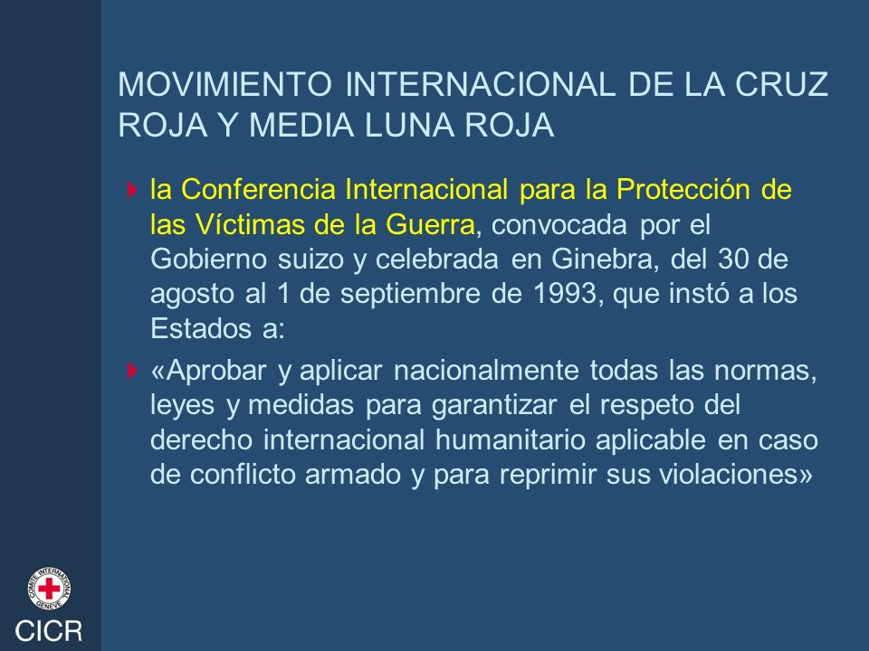 MOVIMIENTO INTERNACIONAL DE LA CRUZ ROJA Y MEDIA LUNA ROJA