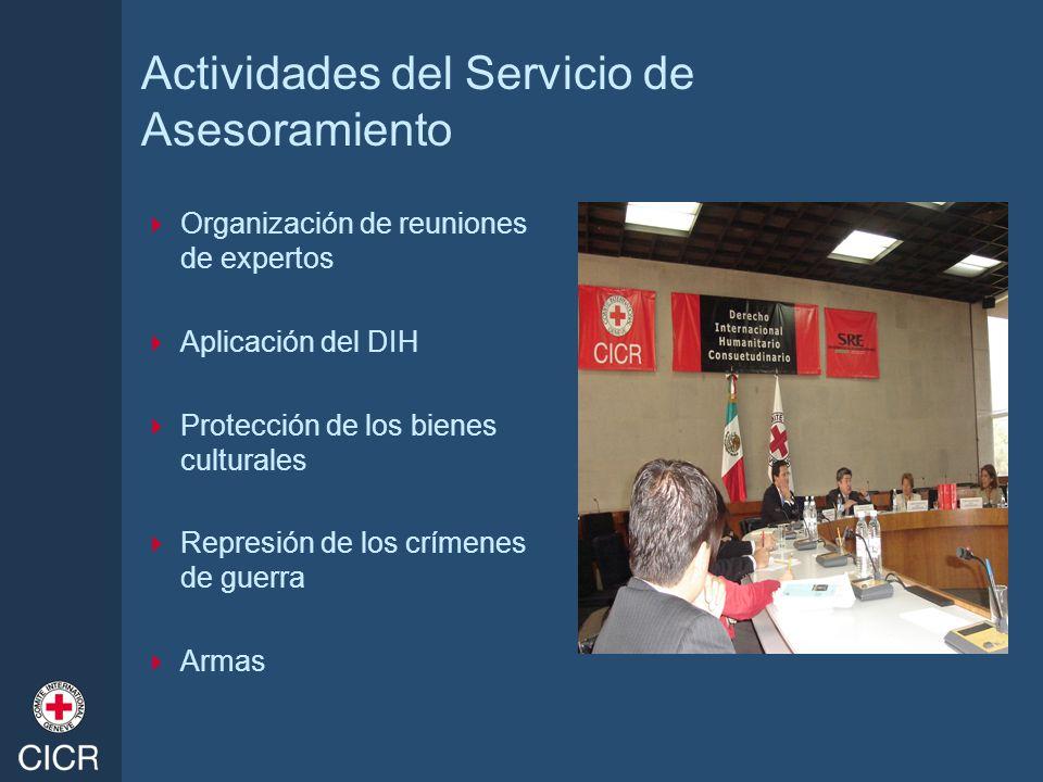 Actividades del Servicio de Asesoramiento