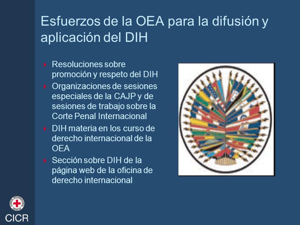 Esfuerzos de la OEA para la difusión y aplicación del DIH