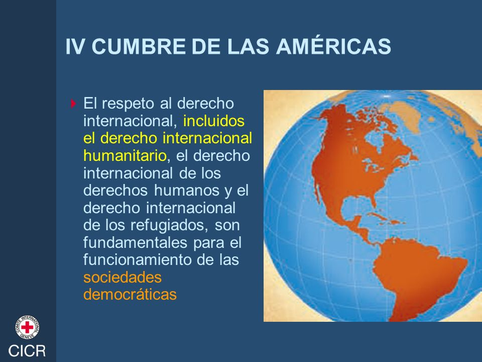 IV CUMBRE DE LAS AMÉRICAS