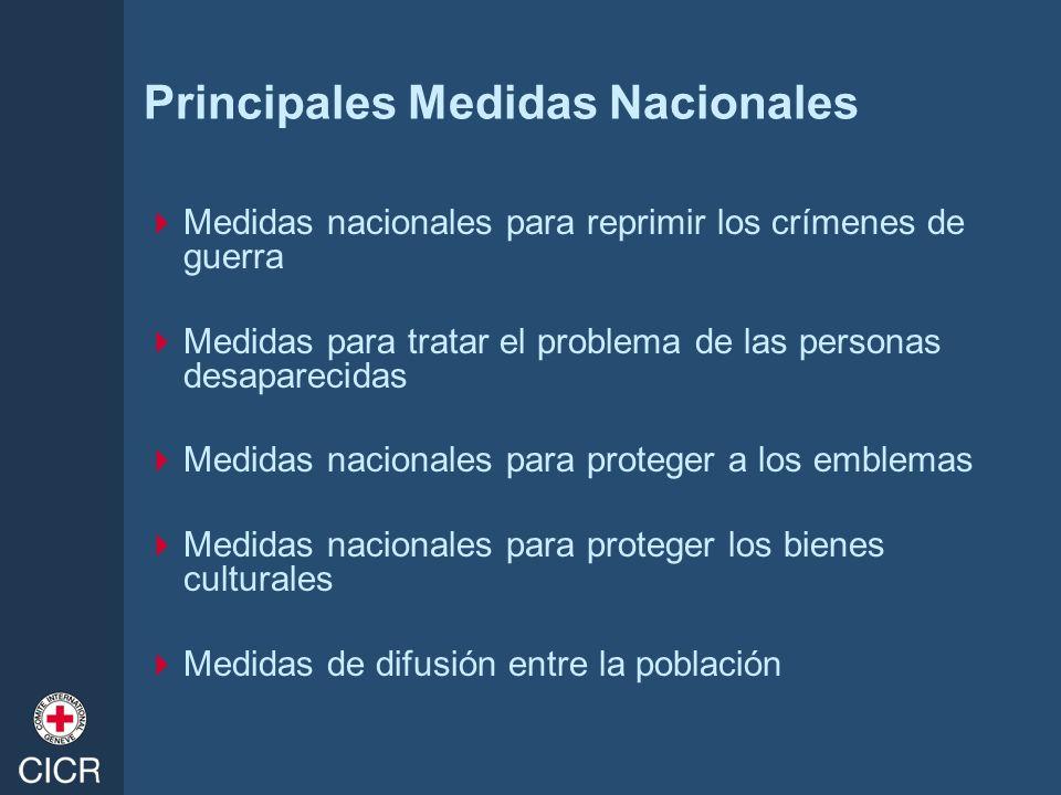 Principales Medidas Nacionales