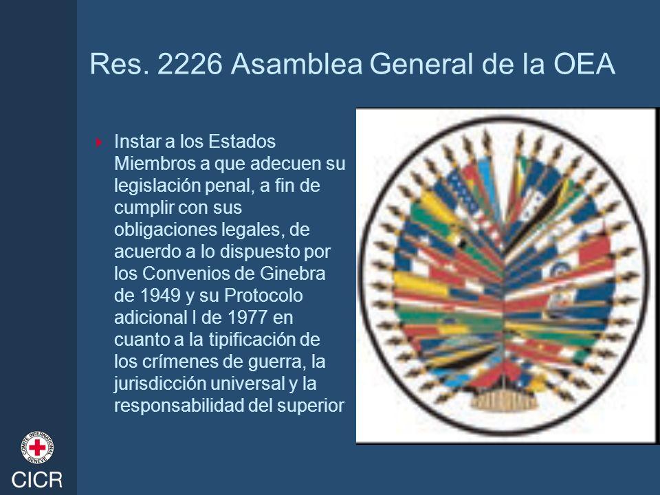 Res. 2226 Asamblea General de la OEA