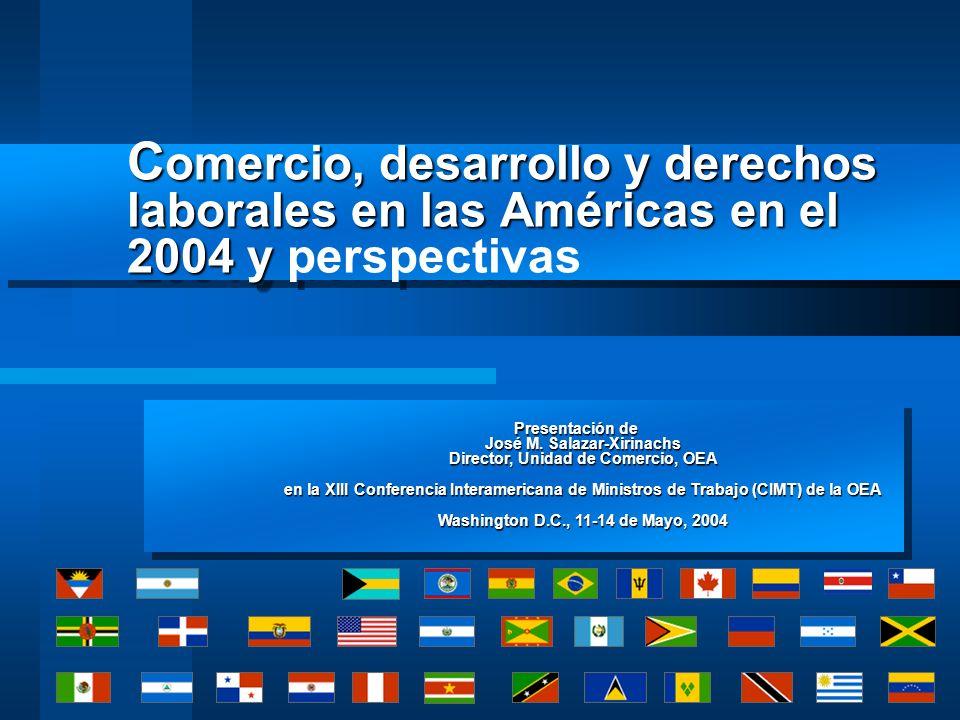 Comercio, desarrollo y derechos laborales en las Américas en el 2004 y perspectivas