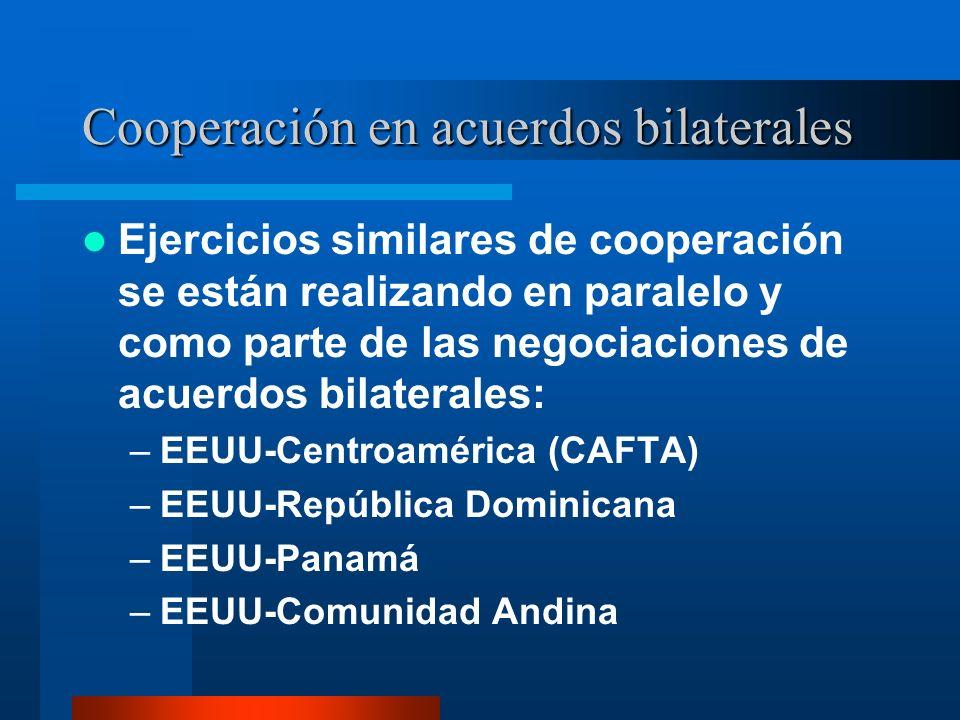 Cooperación en acuerdos bilaterales