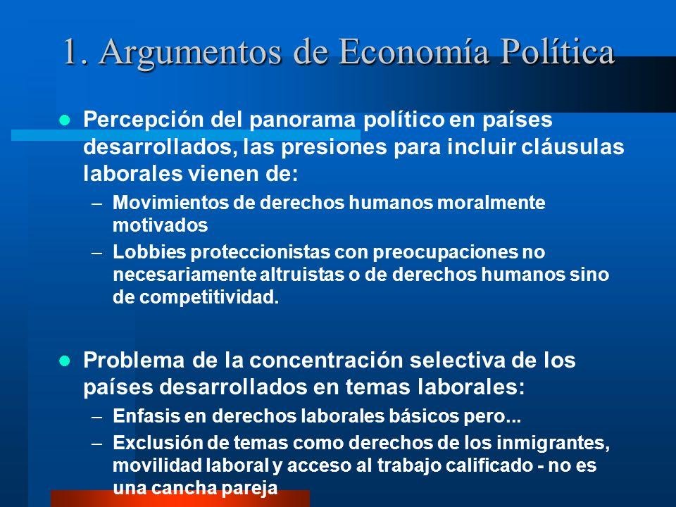 1. Argumentos de Economía Política