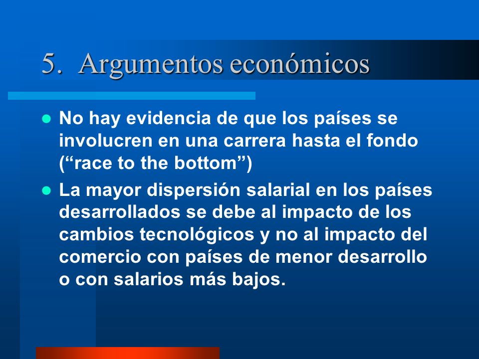 5. Argumentos económicos