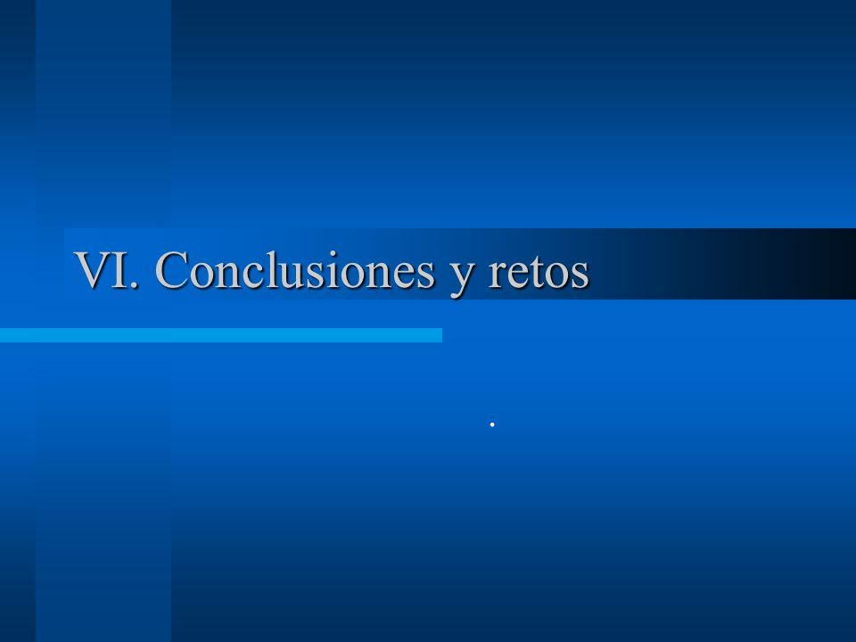 VI. Conclusiones y retos