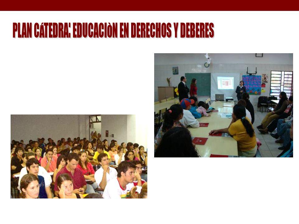 PLAN CÁTEDRA: EDUCACIÒN EN DERECHOS Y DEBERES