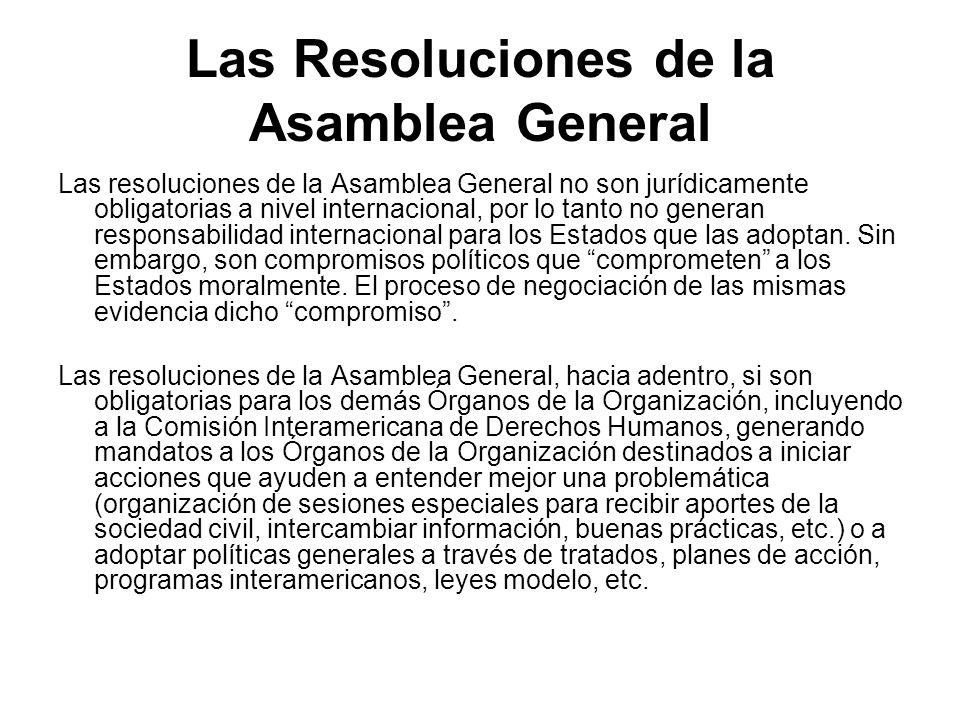 Las Resoluciones de la Asamblea General