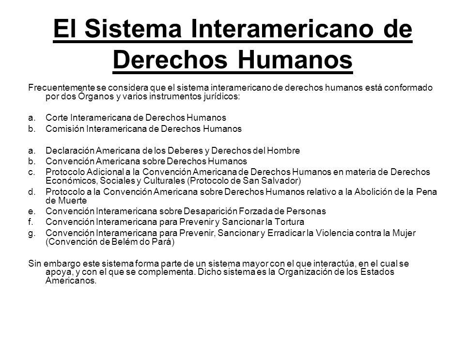 El Sistema Interamericano de Derechos Humanos