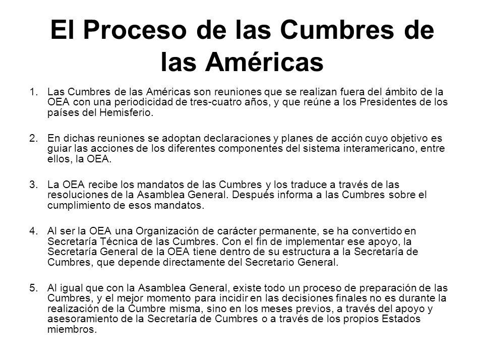 El Proceso de las Cumbres de las Américas