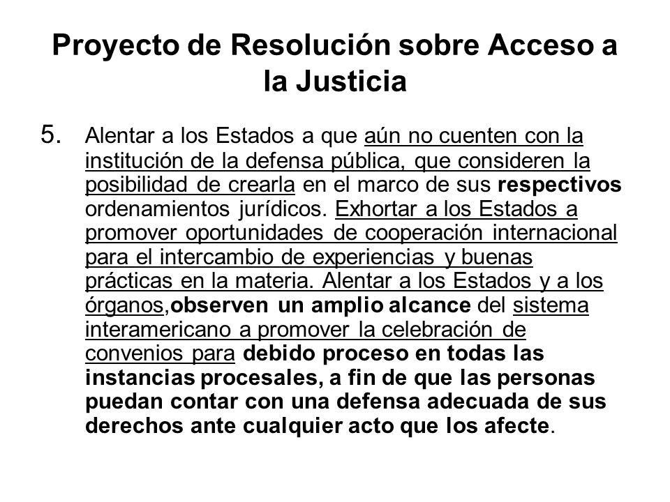 Proyecto de Resolución sobre Acceso a la Justicia