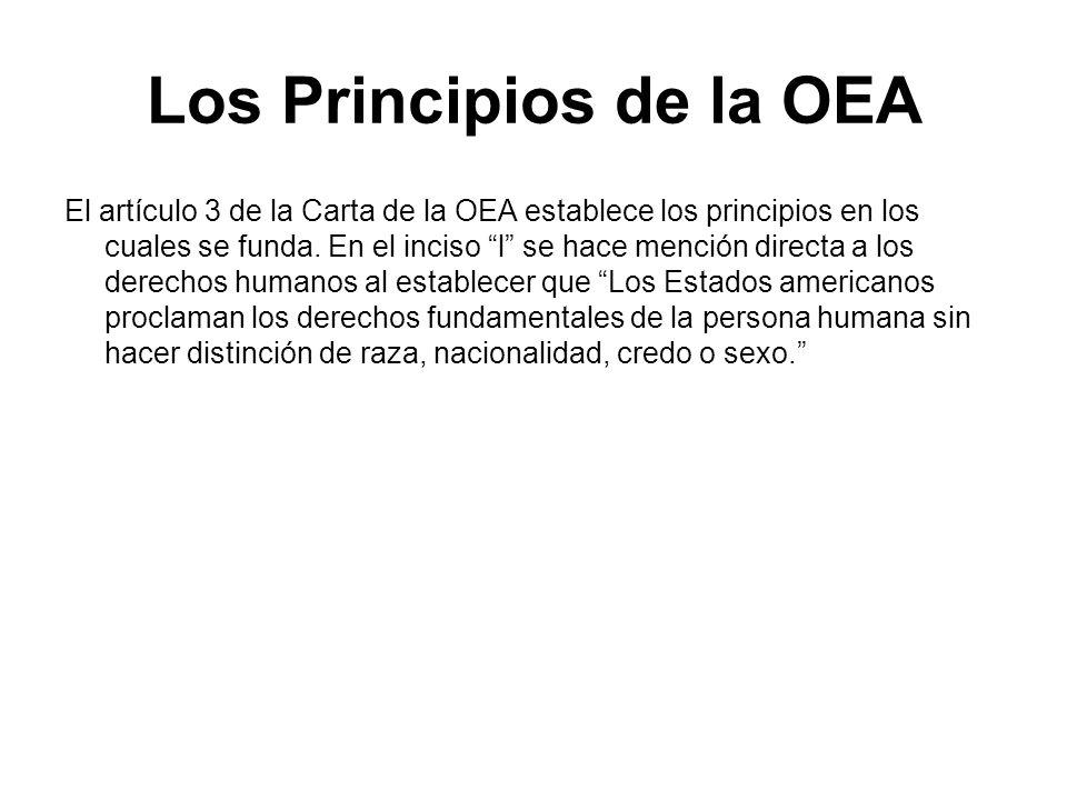 Los Principios de la OEA