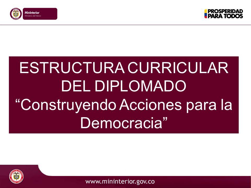 ESTRUCTURA CURRICULAR DEL DIPLOMADO Construyendo Acciones para la Democracia