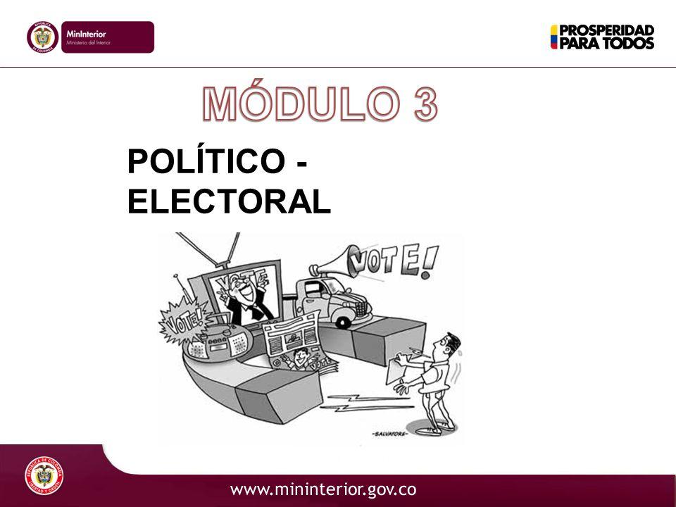 MÓDULO 3 POLÍTICO - ELECTORAL