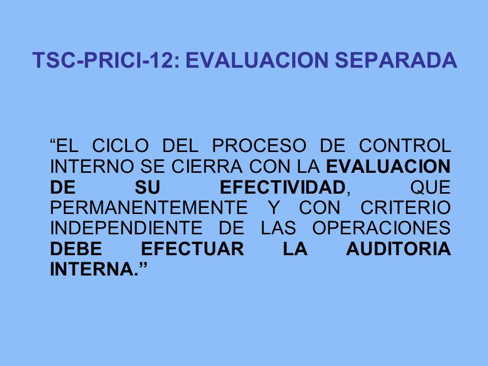 TSC-PRICI-12: EVALUACION SEPARADA