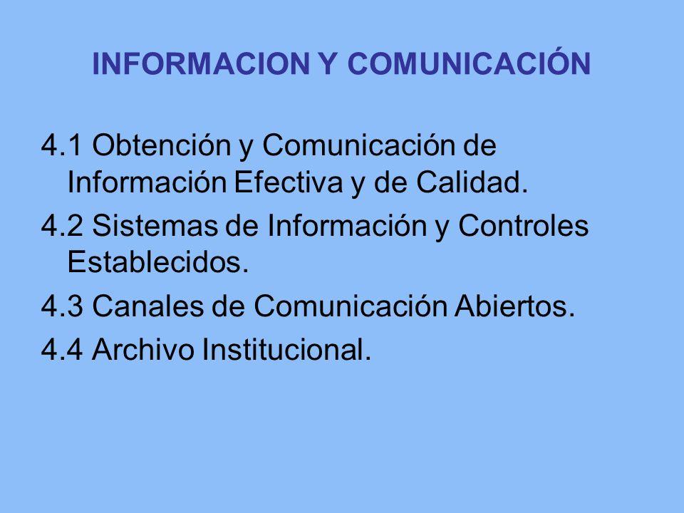 INFORMACION Y COMUNICACIÓN