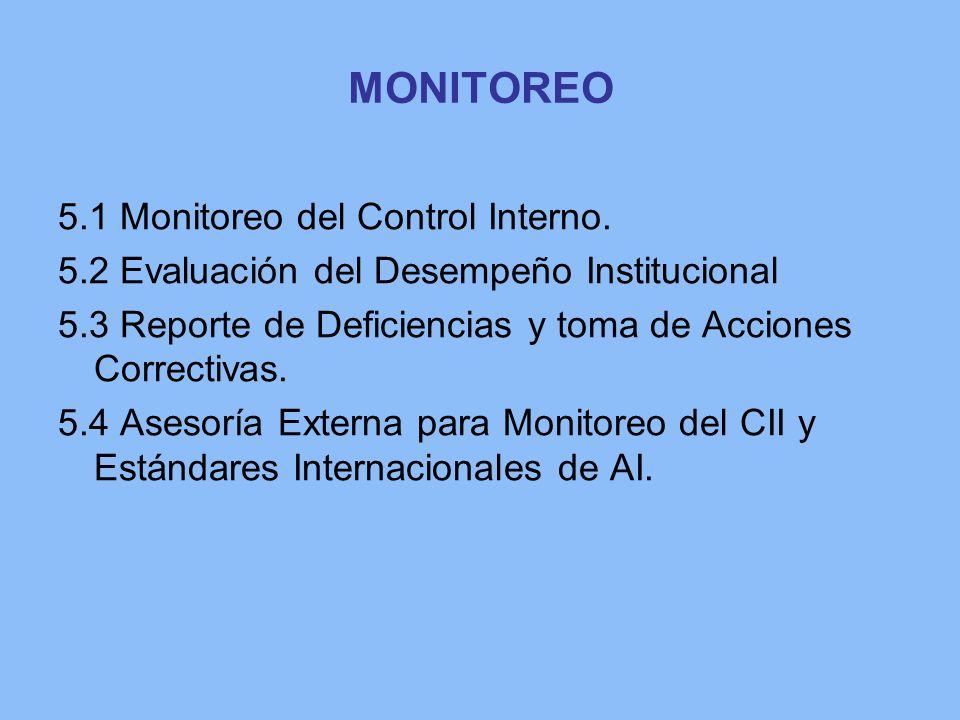 MONITOREO 5.1 Monitoreo del Control Interno.