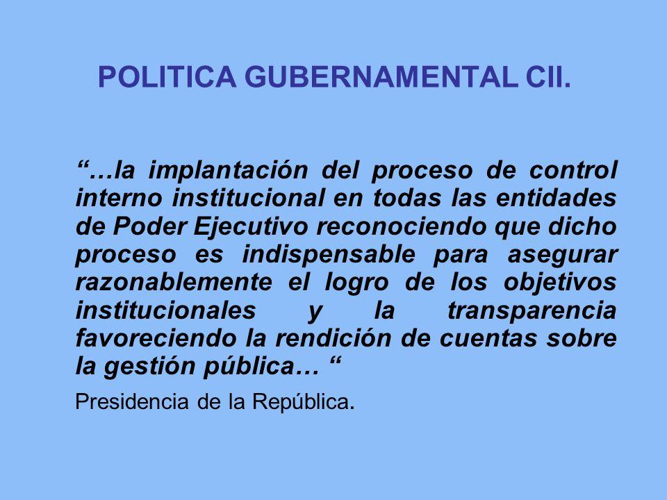 POLITICA GUBERNAMENTAL CII.