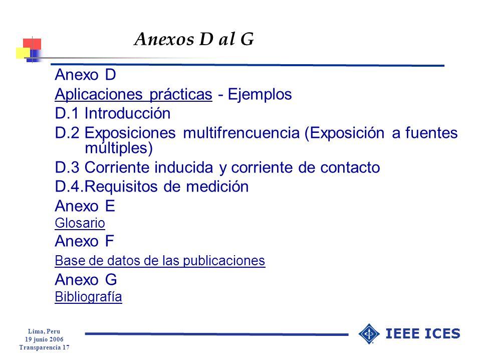 Anexos D al G Anexo D Aplicaciones prácticas - Ejemplos