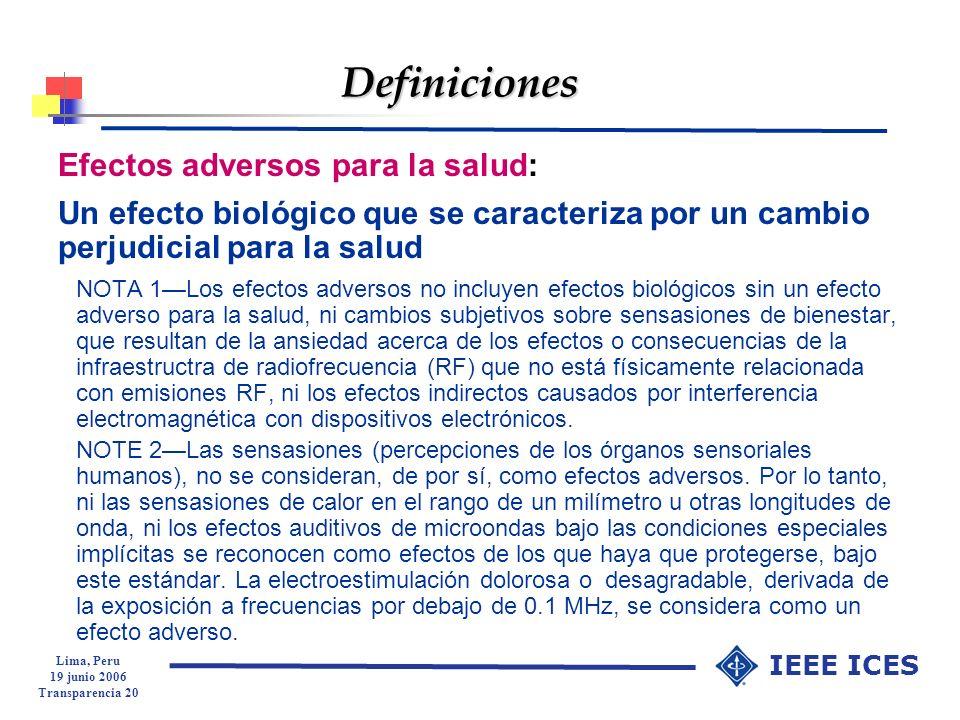 Definiciones Efectos adversos para la salud:
