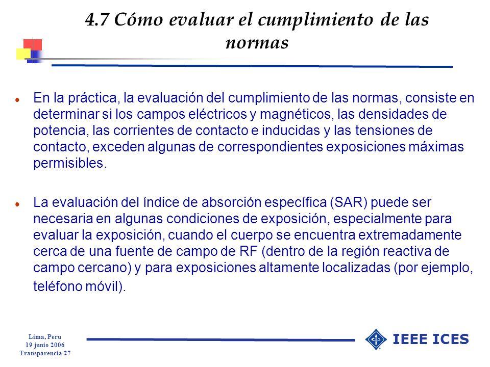 4.7 Cómo evaluar el cumplimiento de las normas