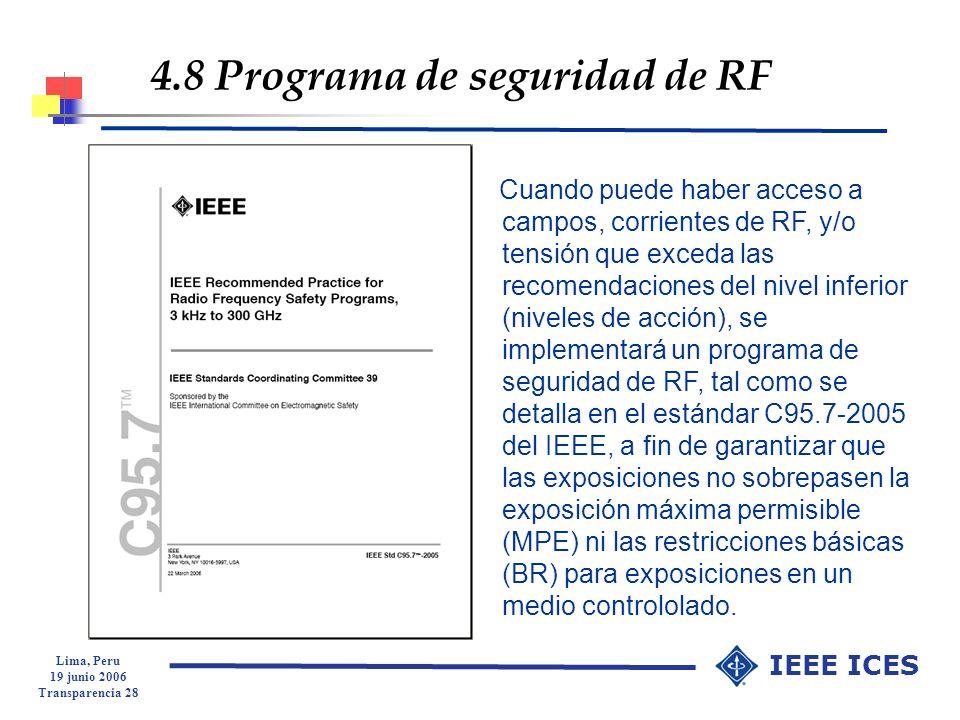 4.8 Programa de seguridad de RF